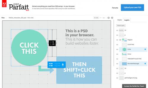 Проект Парфе: работаем с ПСД-файлами без Фотошопа