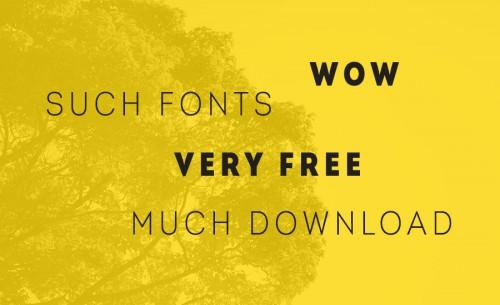 6 свежих бесплатных шрифтов