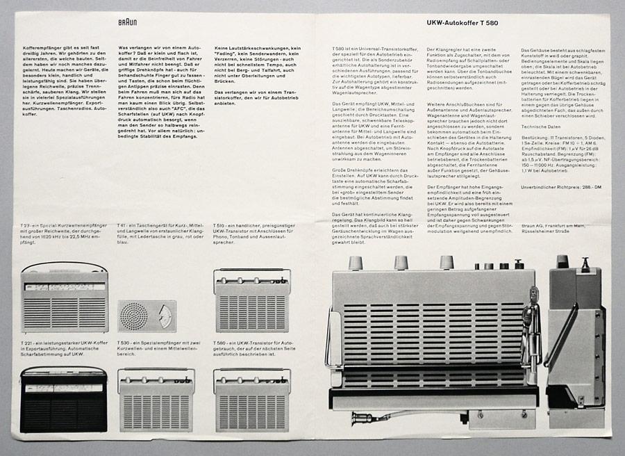 Листовка компании Braun. Вольфганг Шмиттель, 1961