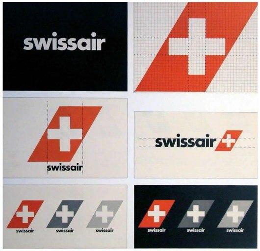 Логотип Swissair 1980-2000-е