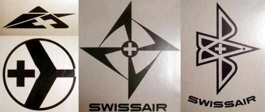 Экспериментальные логотипы Swissair