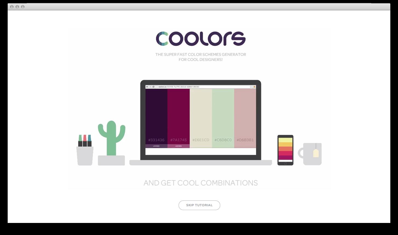 Coolors — новый удобный способ подбора цветовых схем