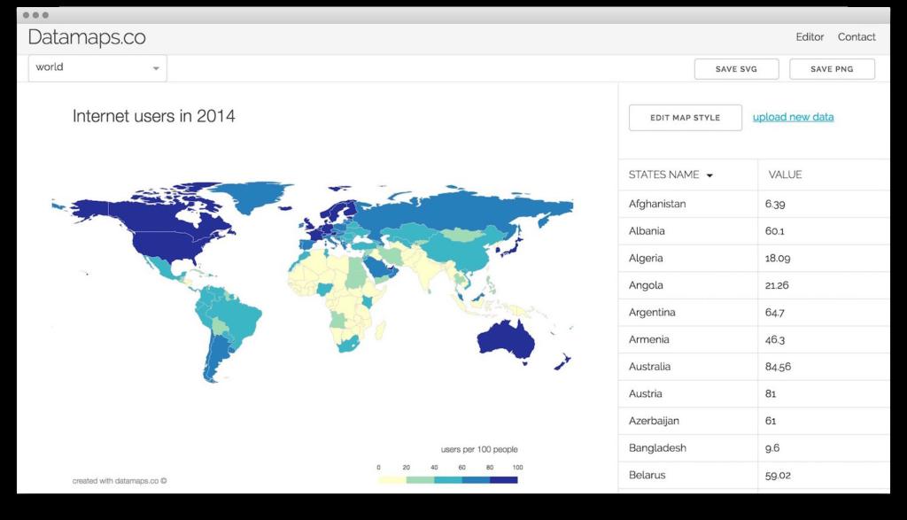 DataMaps.co — инструмент для создания карт с данными