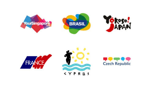 туристические логотипы стран